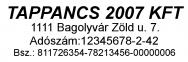 Traxx 9011 bélyegzőlenyomat bélyegzőkészítés Budán gyorsan olcsón