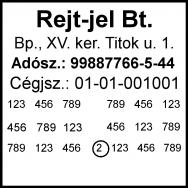 Traxx 9024 bélyegzőlenyomat bélyegzőkészítés Budán gyorsan olcsón