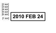 Traxx Eco 2 bélyegzőlenyomat dátumbélyegző bélyegzőkészítés Budán gyorsan olcsón