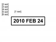 Traxx Eco 3 bélyegzőlenyomat dátumbélyegző bélyegzőkészítés Budán gyorsan olcsón