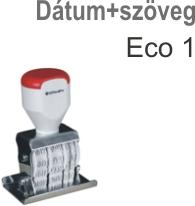 Traxx Eco 1 dátum+szöveg bélyegző készítés Budapesten azonnal olcsón