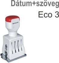 Traxx Eco 3 dátum+szöveg bélyegző készítés Budapesten azonnal olcsón