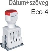 Traxx Eco 4 dátum+szöveg bélyegző készítés Budapesten azonnal olcsón