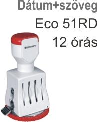 Traxx Eco 51RD 12 órás dátum+szöveg bélyegző készítés Budapesten azonnal olcsón