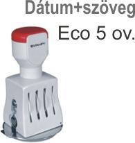 Traxx Eco 5 ov. dátum+szöveg bélyegző készítés Budapesten azonnal olcsón
