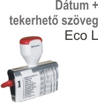 Traxx Eco L dátum + tekerhető szöveg  bélyegző készítés Budapesten azonnal olcsón