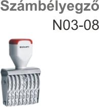 Traxx N03-08 számbélyegző Budapesten azonnal olcsón
