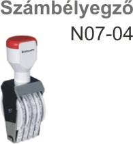 Traxx N07-04  számbélyegző Budapesten azonnal olcsón