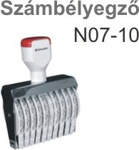 TRAXX N07-10 számbélyegző Budapesten azonnal olcsón