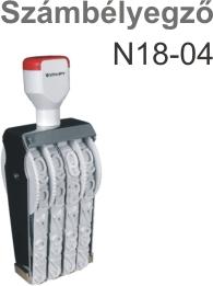 TRAXX N18-04 számbélyegző Budapesten azonnal olcsón