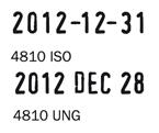 Trodat 4810 bélyegzőlenyomat dátumbélyegző bélyegző készítés Budán sürgősen olcsón