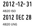 Trodat 4820 bélyegzőlenyomat dátumbélyegző bélyegző készítés Budán sürgősen olcsón