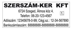 Trodat 4912-es szövegbélyegző nyomatminta 47x18mm-es