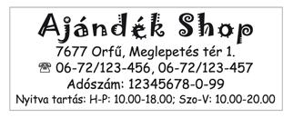 Trodat 4913-as szövegbélyegző nyomatminta 58x22mm-es