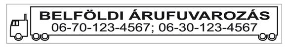 Trodat 4916-os szövegbélyegző nyomatminta 70x10mm-es